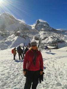 Helen in Zermatt Oct 2013