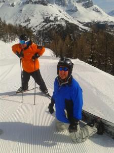 skiing at lake louise Nigel